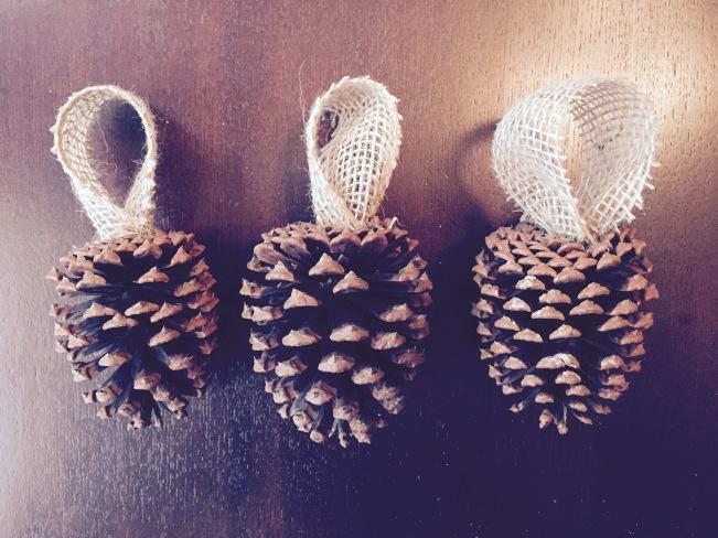 love+grace | Pine Cone Ornaments